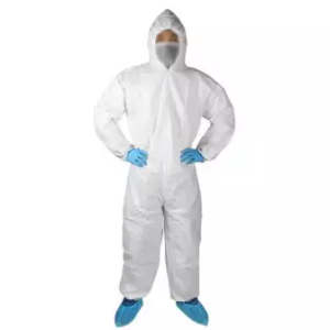 White protective suit